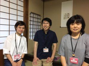 左から竹村さん、栗田さん(株式会社ドゥーコミュニケーションズ代表取締役)、古村さん