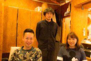 水田さん(左)、齊藤さん(中央)、スタッフの長峰さん(右)