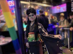 「AiiRO CAFÉ」にて自身の20歳のバースデーイベントを行なったOkiniさん(著者撮影)