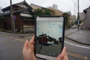 金澤町家研究会(金沢市彦三町)、CGで現在と昔の街並みを比べる