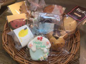 早稲田で製造している焼き菓子